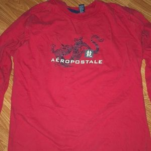Red Aeropostale long sleeve shirt